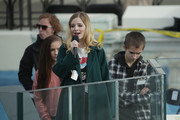 Singer Jackie Evancho rehearses singing the National Anthem on the West Front of the U.S. Capitol on January 19, 2017 in Washington, DC. Donald J. Trump will be sworn in tomorrow as the 45th president of the United States.