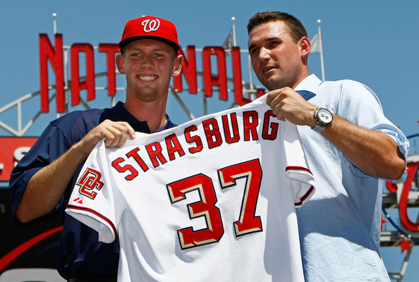 CAPITAL INVESTMENT: Harrisburgs Stephen Strasburg shows his future uniform.