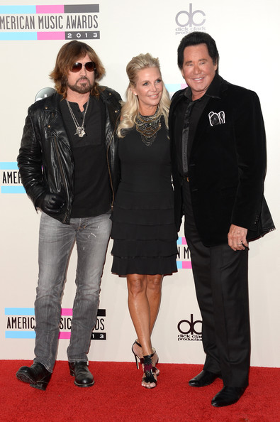 Arrivals at the American Music Awards — Part 2 [carpet,red carpet,premiere,event,outerwear,flooring,fashion design,arrivals,singers,billy ray cyrus,c,kathleen mccrone,r,wayne newton,american music awards,california,l]
