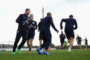 Wayne Rooney Leighton Baines England Training and Press Conference