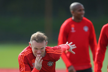 Wayne Rooney Manchester United FC Training Session