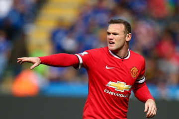 Wayne Rooney Leicester City v Manchester United - Premier League