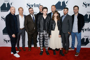 "(L-R) Iain B. MacDonald, Greg Coolidge, Shawn Simmons, Paul Wernick, Mark McKenna, Kirk Ward, Ciara Bravo, Francesco Antonio, and Rhett Reese attend the ""Wayne"" World Premiere during the 2018 Tribeca TV Festival at Spring Studios on September 23, 2018 in New York City."