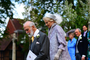Prince Michael of Kent and Princess Michael of Kent leave after Lady Gabriella Windsor and Thomas Kingston were wed in St George's Chapel on May 18, 2019 in Windsor, England. (Photo by Victoria Jones - WPA Pool/Getty Images