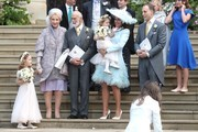 (L-R) Princess Michael of Kent, Prince Michael of Kent, Sophie Winkleman and Lord Frederick Windsor after the wedding of Lady Gabriella Windsor and Mr Thomas Kingston at St George's Chapel on May 18, 2019 in Windsor, England.
