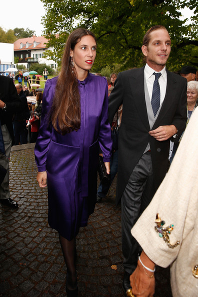 Pierre Casiraghi (R) attends the Wedding of Princess Maria Theresia von Thurn und Taxis and Hugo Wilson on September 13, 2014 in Tutzing, Germany.