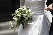 Detail of the bridal bouquet during the wedding of Prince Christian of Hanover and  Alessandra de Osma at Basilica San Pedro on March 16, 2018 in Lima, Peru.
