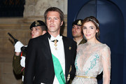 Emmanuel de Savoie and Clotilde Courau attend the Gala dinner for the wedding of Prince Guillaume Of Luxembourg and Stephanie de Lannoy at the Grand-ducal Palace on October 19, 2012 in Luxembourg, Luxembourg. The 30-year-old hereditary Grand Duke of Luxembourg is the last hereditary Prince in Europe to get married, marrying his 28-year old Belgian Countess bride in a lavish 2-day ceremony.