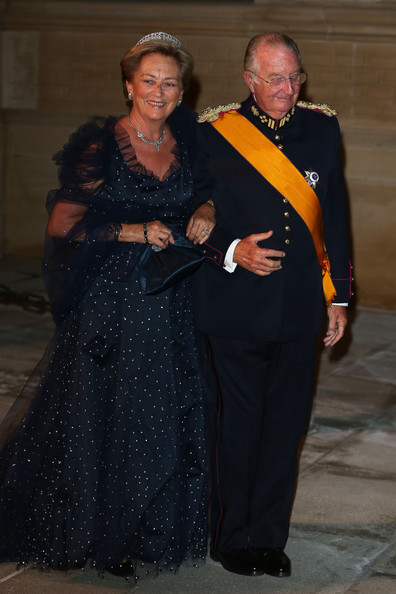 Queen Paola of Belgium and King Albert II of Belgium attend the Gala dinner for the wedding of Prince Guillaume Of Luxembourg and Stephanie de Lannoy at the Grand-ducal Palace on October 19, 2012 in Luxembourg, Luxembourg. The 30-year-old hereditary Grand Duke of Luxembourg is the last hereditary Prince in Europe to get married, marrying his 28-year old Belgian Countess bride in a lavish 2-day ceremony.