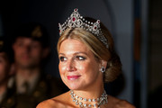 Princess Maxima of The Netherlands attend the Gala dinner for the wedding of Prince Guillaume Of Luxembourg and Stephanie de Lannoy at the Grand-ducal Palace on October 19, 2012 in Luxembourg, Luxembourg. The 30-year-old hereditary Grand Duke of Luxembourg is the last hereditary Prince in Europe to get married, marrying his 28-year old Belgian Countess bride in a lavish 2-day ceremony.