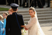 Princess Stephanie of Luxembourg is led by her brother Count Jehan de Lannoy to the wedding ceremony of Prince Guillaume Of Luxembourg and Princess Stephanie of Luxembourg at the Cathedral of our Lady of Luxembourg on October 20, 2012 in Luxembourg, Luxembourg. The 30-year-old hereditary Grand Duke of Luxembourg is the last hereditary Prince in Europe to get married, marrying his 28-year old Belgian Countess bride in a lavish 2-day ceremony.