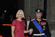 Prince Haakon of Norway and Princess Mette-Marit of Norway attend the Gala dinner for the wedding of Prince Guillaume Of Luxembourg and Stephanie de Lannoy at the Grand-ducal Palace on October 19, 2012 in Luxembourg, Luxembourg. The 30-year-old hereditary Grand Duke of Luxembourg is the last hereditary Prince in Europe to get married, marrying his 28-year old Belgian Countess bride in a lavish 2-day ceremony.