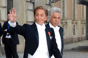 Valentino Garavani and Giancarlo Giametti attend the wedding of Princess Madeleine of Sweden and Christopher O'Neill hosted by King Carl Gustaf XIV and Queen Silvia at The Royal Palace on June 8, 2013 in Stockholm, Sweden.