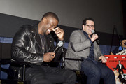 (L-R) Actor/comedian Kevin Hart, actor Josh Gad, and Pepe Billete attend 'The Wedding Ringer' Screening in Miami at Regal South Beach on January 8, 2015 in Miami, Florida.