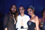She gets fancy with Jared Leto and Selena Gomez. - Cara Delevingne's Celebrity Friends