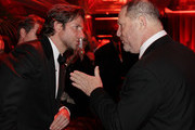 Actor Bradley Cooper and director Harvey Weinstein attends the The Weinstein Company's 2013 Golden Globe Awards after party presented by Chopard, HP, Laura Mercier, Lexus, Marie Claire, and Yucaipa Films held at The Old Trader Vic's at The Beverly Hilton Hotel on January 13, 2013 in Beverly Hills, California.