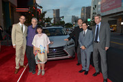 (L-R) Directors Phillip Noyce, Jon Goldman, Satsuki Okawa, The Weinstein Company Co-Chairman Harvey Weinstein, The Weinstein Company Chief Operating Officer David Glasser and John Thomson, General Manager, Global Branding Department, Lexus International, attend the 2nd annual Lexus Short Films 'Life Is Amazing' presented by The Weinstein Company and Lexus at LA Live on July 30, 2014 in Los Angeles, California.