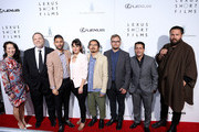 "(L-R) Filmmakers Mitsuyo Miyazaki, Producer Harvey Weinstein, Justin Tipping, Cristina Molino, Chung Chan Ki, Joel Kefali, Weinstein COO David Glasser and Campbell Hooper attend Lexus Short Film Series ""Life Is Amazing"" presented by The Weinstein Company and Lexus at DGA Theater on February 21, 2013 in Los Angeles, California."