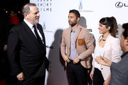 """(L-R) Producer Harvey Weinstein, Directors Justin Tipping and Cristina Molino attend Lexus Short Film Series """"Life Is Amazing"""" presented by The Weinstein Company and Lexus at DGA Theater on February 21, 2013 in Los Angeles, California."""