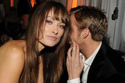 Actors Olivia Wilde (L) and Ryan Gosling attend Relativity Media and The Weinstein Company's 2011 Golden Globe Awards After Party presented by Marie Claire held at The Beverly Hilton hotel on January 16, 2011 in Beverly Hills, California.