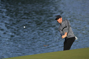 Rory McIlroy of Northern Ireland plays a shot on the 14th hole during the first round of the 2018 Wells Fargo Championship at Quail Hollow Club on May 3, 2018 in Charlotte, North Carolina.