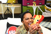 Wendy's partners with China Anne McClain and IMDb to kick off Baconfest at Comic-Con, an epic bacon celebration filled with mouth-watering deals on July 18, 2019 in San Diego, California.