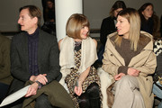 Hamish Bowles, Anna Wintour and Virginia Smith attend Wes Gordon runway show during MADE Fashion Week Fall 2015 at Milk Studios on February 13, 2015 in New York City.