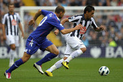 Gonzalo Jara (R) of West Bromwich contests with Martin Petrov of Bolton during the Barclays Premier League match between West Bromwich Albion and Bolton Wanderers at The Hawthorns on October 2, 2010 in West Bromwich, England.