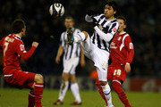 Gonzalo Jara of West Bromwich Albion gets past Paul Anderson of Nottingham Forest during the Coca-Cola Football League Championship match between West Bromwich Albion and Nottingham Forest at The Hawthorns on January 8, 2010 in West Bromwich, England.