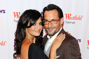 Actress Jennifer Gimenez (L) and actor Gregory Zarian attend Westfield Topanga Celebrates Fashion's Night Out at Westfield Topanga on September 8, 2011 in Topanga, California.