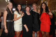 (L-R) Katrina Grant, Joline Henry, Ruth Aitken, Casey Williams and Maria Tutaia of the Silver Ferns arrive at the Westpac Halberg Awards at the SkyCity Convention Centre on February 10, 2011 in Auckland, New Zealand.