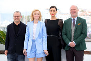"Director Corneliu Porumboiu, Rodica Lazar, Catrinel Menghia and Vlad Ivanov attend the photocall for ""The Whistlers (La Gomera/ Les Siffleurs)"" during the 72nd annual Cannes Film Festival on May 19, 2019 in Cannes, France."