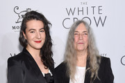 """Jesse Smith and Patti Smith attend """"The White Crow"""" New York Premiere at Metrograph on April 22, 2019 in New York City."""