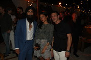 Waris Ahluwalia, Grace Gomez Brea, Dan Ragone attend White Cube & Soho Beach House Party with Bombay Sapphire during Art Basel Miami 2018 on December 4, 2018 in Miami Beach, Florida.