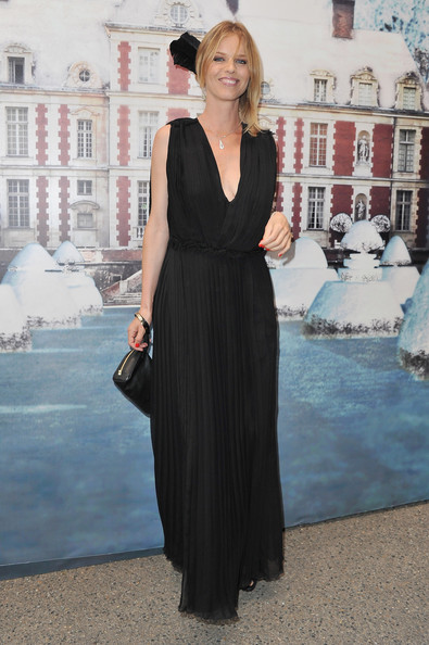 Eva Herzigova attends 'The White Fairy Tale Love Ball' in Support Of 'The Naked Heart Foundation' at Chateau De Wideville on July 6, 2011 in Crespieres, France.