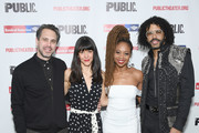 """Thomas Sadoski, Zoe Winters, Sheria Irving and Daveed Diggs attend """"White Noise"""" Opening Night at The Public Theater on March 20, 2019 in New York City."""