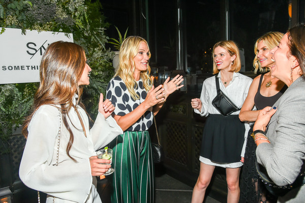 Nordstrom Celebrates The SOMETHING NAVY Brand Launch At The Gramercy Park Hotel [event,fashion,party,drinking,dress,drink,liqueur,fashion design,brooklyn decker,whitney casey,arielle charnas,molly sims,rebecca minkoff,l-r,gramercy park hotel,nordstrom celebrates the something navy brand launch,nordstrom,dinner]