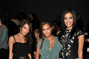 TV personality Layla Kayleigh, actress Adrienne Bailon and actress Julissa Bermudez attend the Whitney Eve Fall 2012 fashion show during Mercedes-Benz Fashion Week at The Studio at Lincoln Center on February 15, 2012 in New York City.