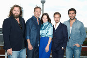 (L-R) Actors Antoine Monot, Jr., Wotan Wilke Moehring, Hannah Herzsprung, Tom Schilling and Elyas MBarek attend the photocall 'WHO AM I- KEIN SYSTEM IST SICHER' on September 23, 2014 in Berlin, Germany.