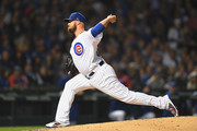Jon Lester #34 of the Chicago Cubs pitches in the fourth inning against the Colorado Rockies during the National League Wild Card Game at Wrigley Field on October 2, 2018 in Chicago, Illinois.