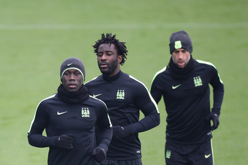 Wilfried Bony Manchester City Training Session and Press Conference