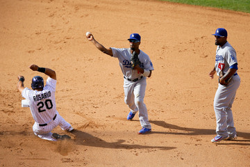 Wilin Rosario Los Angeles Dodgers v Colorado Rockies