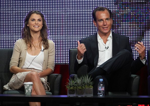 2010 Summer TCA Tour - Day 6 [running wilde,event,television program,performance,media,talent show,sitting,suit,newscaster,conversation,keri russell,will arnett,writer,co-creator,portion,tca,executive producer,fox,panel]