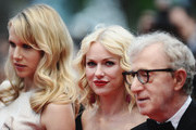 """Actress Lucy Punch, Actress Naomi Watts and Director Woody Allen attend the """"You Will Meet A Tall Dark Stranger"""" Premiere at the Palais des Festivals during the 63rd Annual Cannes Film Festival on May 15, 2010 in Cannes, France."""