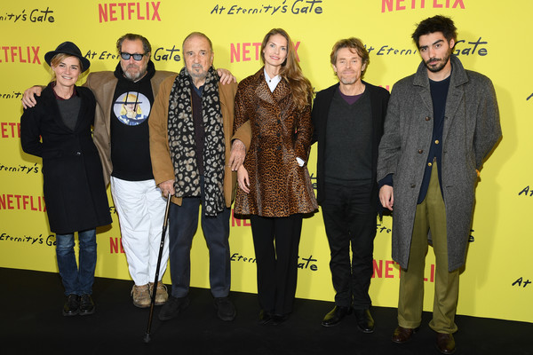 'At Eternity's Gate' Photocall At Le Louvre In Paris [photocall at le louvre in paris,film,yellow,event,premiere,performance,vladimir consigny,anne consigny,julian schnabel,at eternitys gate,photocall,paris,france,musee du louvre on april]