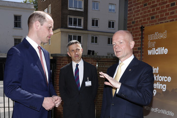 William Hague The Duke Of Cambridge Speaks At The First United For Wildlife Joint Taskforce Meeting
