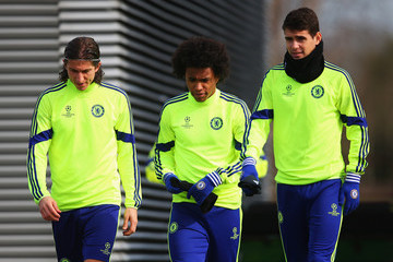 Willian Filipe Luis Chelsea Training Session
