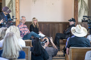 (L-R) Buddy Cannon, Paula Nelson, and Willie Nelson discuss Willie's Nelson's new album 'Ride Me Back Home' during a taping for SiriusXM's Willie's Roadhouse at on April 13, 2019 in Spicewood, Texas.