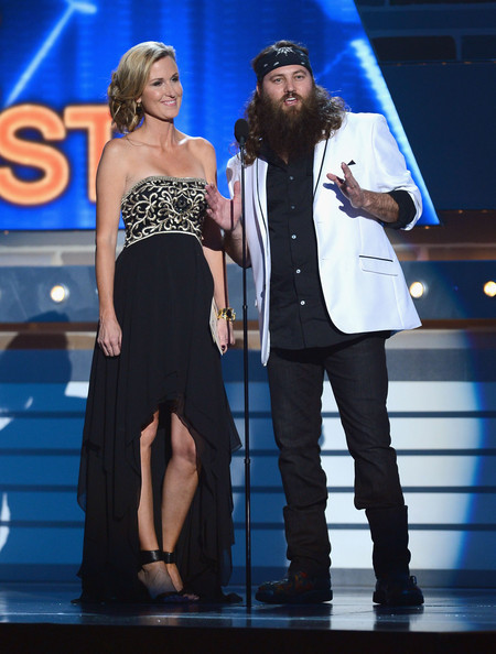 48th Annual Academy Of Country Music Awards - Show [performance,entertainment,event,fashion,performing arts,music artist,talent show,public event,dress,stage,tv personalities,willie robertson,korie robertson,academy of country music awards,las vegas,nevada,mgm grand garden arena,show,academy of country music awards]