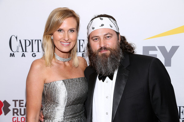 Capitol File 58th Presidential Inauguration Reception [duck dynasty,facial hair,beard,event,carpet,premiere,fashion accessory,red carpet,moustache,smile,style,korie robertson,willie robertson,washington dc,fiola mare,capitol file 58th presidential inauguration reception]